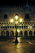 Night Lamp Photo Posters - Venezia Poster by Joana Kruse