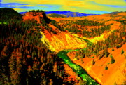 Yellowstone Digital Art Originals - Yellowstone Park by Adam Shevron