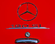 Mercedes Prints - 190 Sl Print by Dennis Hedberg