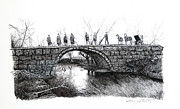 1902 Bridge Postcard Print by Gary Gackstatter