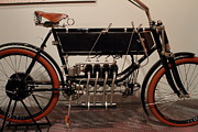 Bicycle Photos - 1904 FN Motorcycle - The Early Years - 7D17274 by Wingsdomain Art and Photography