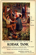 1907 Drawings Prints - 1907 Kodak Tank Vintage Ad Print by Anne Kitzman