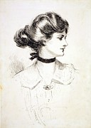 Updo Framed Prints - 1909 Drawing By Charles Dana Gibson Framed Print by Everett