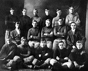 Youth Sports Prints - 1910 Abilene High School Football Team Print by Everett