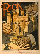 Capitalism Posters - 1910 Cartoon Expressing Concern That Poster by Everett