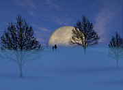 Winter Night Posters - 1910 Poster by Peter Holme III