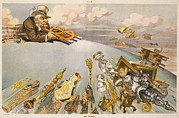 Editorial Framed Prints - 1911 Cartoon Showing John Pierpont Framed Print by Everett