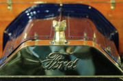 Runabout Prints - 1911 Ford Model T Runabout Hood Ornament Print by Jill Reger