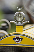 Moto Meter Prints - 1914 Stutz Series E Bearcat Hood Ornament Print by Jill Reger
