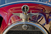 Moto Meter Prints - 1915 Brewster-Knight Model 41 Landaulet Hood Ornament Print by Jill Reger