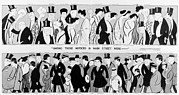 Actors Prints - 1915 Caricatures Of Famous New Yorkers Print by Everett