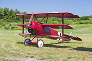 Machinegun Prints - 1917 Fokker Dr.1 Triplane Red Barron Canvas Photo Print Poster Print by Keith Webber Jr