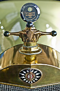 Motometer Framed Prints - 1917 Owen Magnetic M-25 Hood Ornament 2 Framed Print by Jill Reger