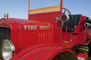 Jill Reger Photo Framed Prints - 1919 Volunteer Fire Truck Framed Print by Jill Reger