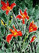 Abtract. Paintings - Divine Flowers by Baljit Chadha