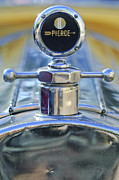 Moto Meter Prints - 1920 Pierce-Arrow Model 48 Coupe Hood Ornament Print by Jill Reger