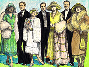 Fashion Plates Prints - 1920s Wedding Print by Mel Thompson
