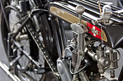 Condor  Metal Prints - 1923 Condor Motorcycle Metal Print by Jill Reger