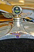 Moto Meter Prints - 1923 Duesenberg Model A Touring Hood Ornament Print by Jill Reger