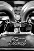 Car Abstracts Photo Posters - 1923 Ford Hood Ornament 2 Poster by Jill Reger