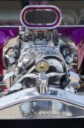 Purple Ford Photos - 1923 Ford T-Bucket Engine by Jill Reger