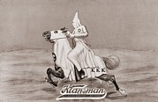 African Americans Prints - 1923 Tobacco Label For Klansman Print by Everett