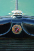 Historic Vehicle Prints - 1925 Cadillac Hood Ornament and Emblem Print by Jill Reger