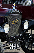 Ford Model T Car Framed Prints - 1925 Ford Model T Coupe Grille Framed Print by Jill Reger