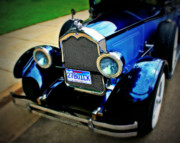 Yellow Paint Framed Prints - 1927 Blue Buick Framed Print by Perry Webster