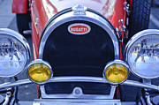 Bugatti Vintage Car Photos - 1927 Bugatti Replica Grille Headlights by Jill Reger