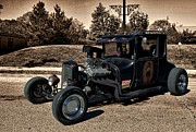 Ford Model T Car Posters - 1927 Ford High Top T Rat Rod Poster by Tim McCullough