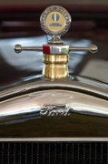 1927 Ford Roadster Photos - 1927 Ford T Roadster Hood ornament by Jill Reger
