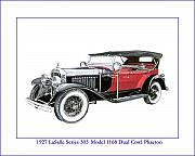 Cadillac Painting Posters - 1927 LaSalle Series 303 Poster by Jack Pumphrey