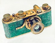 Camera Painting Posters - 1927 Luxus Leica camera Poster by Gary Roderer