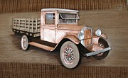 Vintage Reliefs - 1928 Chevvy Carrier by Alok Mital