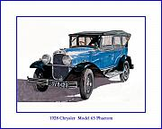 Chryslers Posters - 1928 Chrysler Model 65 Poster by Jack Pumphrey