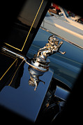 Car Mascot Metal Prints - 1928 Franklin Sedan Hood Ornament Metal Print by Paul Ward