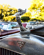 Unrestored Posters - 1928 Hudson Super Six Roadster Hood Ornament Poster by Paul Ward