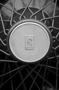 Spoked Wheel Prints - 1928 Rolls-Royce Spoke Wheel Print by Jill Reger
