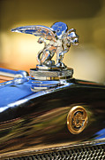 1929 Roadster Prints - 1929 Gardner Series 120 Eight-in-Line Roadster Hood Ornament Print by Jill Reger