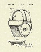 Helmet Drawings Prints - 1929 Patent Art Vintage Helmet Print by Prior Art Design