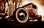 Custom Automobile Digital Art Posters - 1930 Ford Model A Poster by Phil