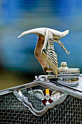 Hispano Suiza Photos - 1930 Hispano-Suiza H6C Kellner Transformable Hood Ornament by Jill Reger