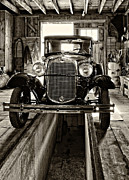 Car Repairs Photo Prints - 1930 Model T Ford sepia Print by Steve Harrington