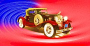 Antique Digital Art Originals - 1930 Packard Boattail Speedster by Garry Staranchuk