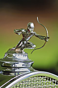 Pierce-arrow Photo Prints - 1930 Pierce-Arrow Model A Convertible Hood Ornament Print by Jill Reger