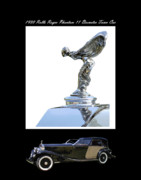 Large Format Digital Art Posters - 1930 Rolls Royce Mascot and car Poster by Jack Pumphrey