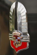 Collector Hood Ornament Prints - 1930s Cadillac Emblem Print by Jill Reger