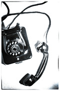 Handset Prints - 1930s Telephone Print by David Ridley