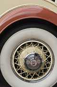 1931 Roadster Framed Prints - 1931 Cadillac Roadster Wheel Framed Print by Jill Reger